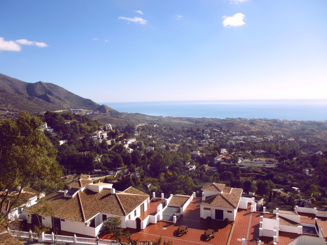 Costa del Sol Mijas town view