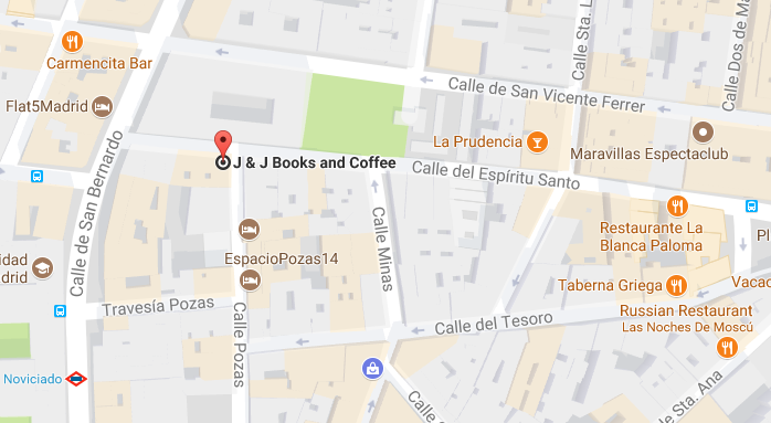 J&J Books map